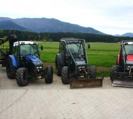 Trije traktorji LINDNER treh različnih barv bratov Brunet #2