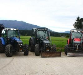 Trije traktorji LINDNER treh različnih barv bratov Brunet #3