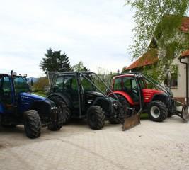 Trije traktorji LINDNER treh različnih barv bratov Brunet #4